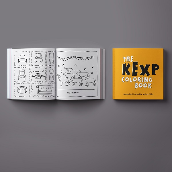 KEXP Coloring Book with Colored Pencils